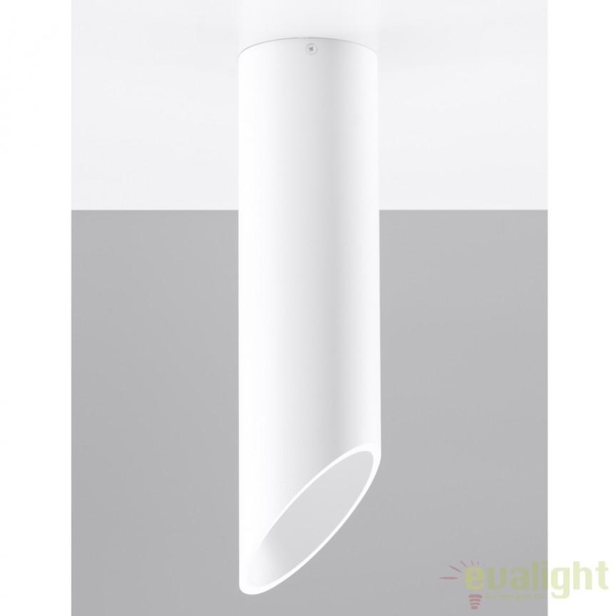 Plafoniera / Spot aplicat design modern PENNE 40 alb SL.0104, Spoturi incastrate, aplicate - tavan / perete, Corpuri de iluminat, lustre, aplice, veioze, lampadare, plafoniere. Mobilier si decoratiuni, oglinzi, scaune, fotolii. Oferte speciale iluminat interior si exterior. Livram in toata tara.  a