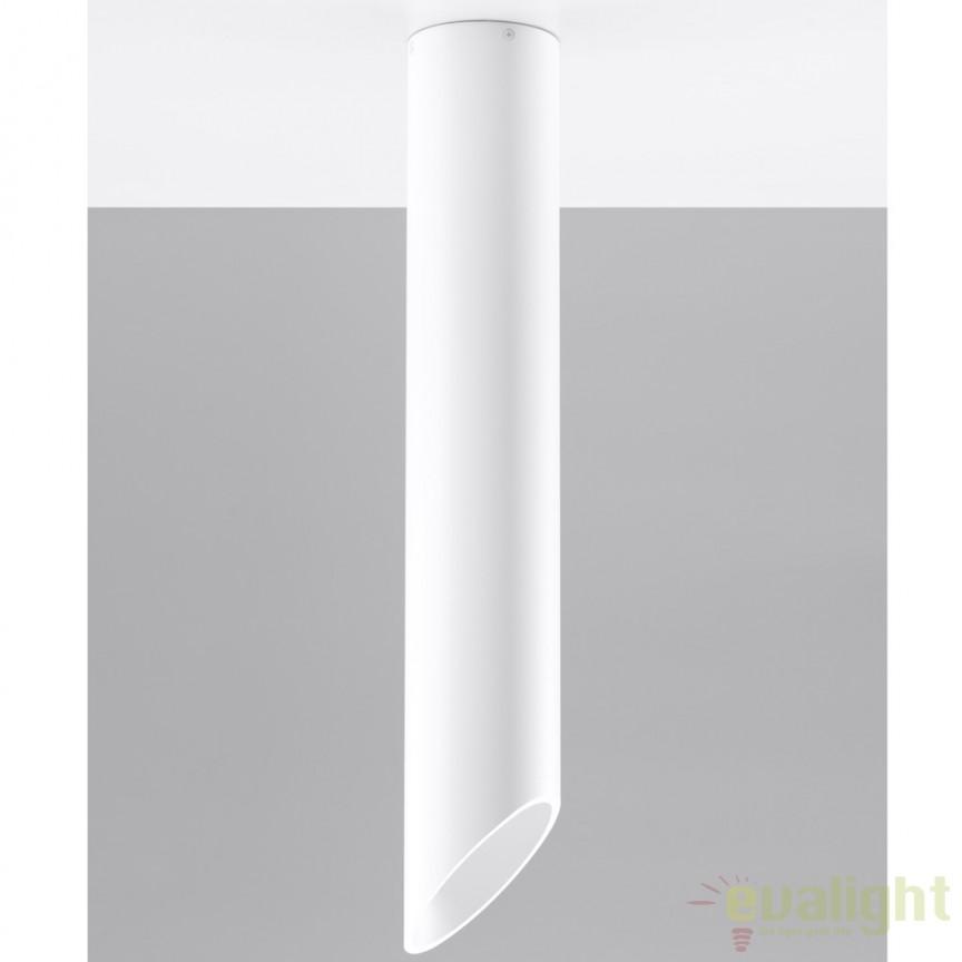 Plafoniera / Spot aplicat design modern PENNE 60 alb SL.0105, Spoturi incastrate, aplicate - tavan / perete, Corpuri de iluminat, lustre, aplice a