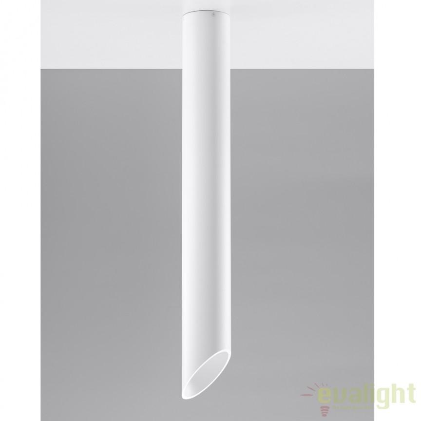 Plafoniera / Spot aplicat design modern PENNE 80 alb SL.0106, Spoturi incastrate, aplicate - tavan / perete, Corpuri de iluminat, lustre, aplice a