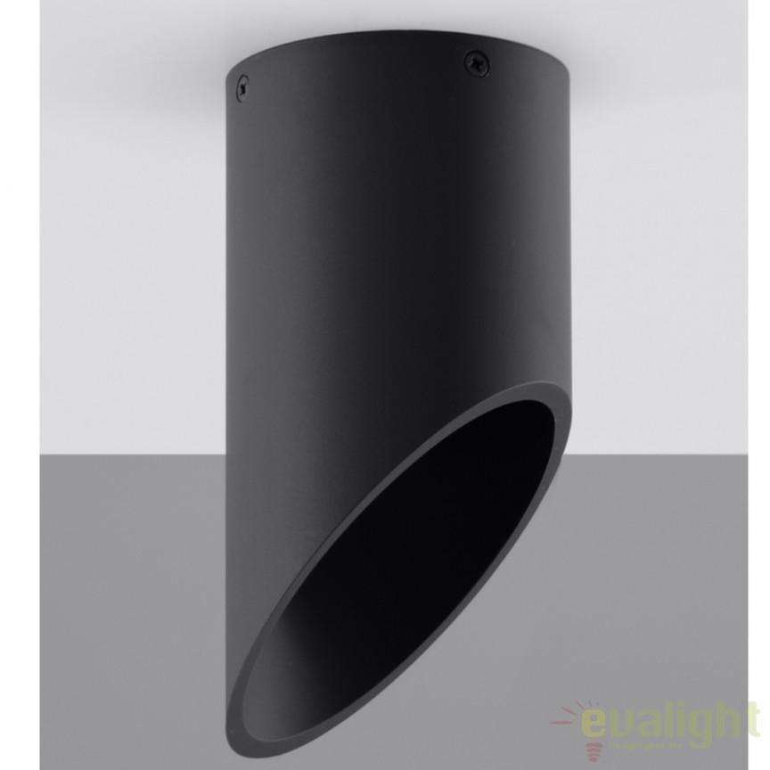 Plafoniera / Spot aplicat design modern PENNE 20 negru SL.0109, Spoturi incastrate, aplicate - tavan / perete, Corpuri de iluminat, lustre, aplice a