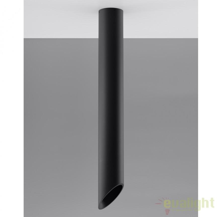 Plafoniera / Spot aplicat design modern PENNE 80 negru SL.0112, Spoturi incastrate, aplicate - tavan / perete, Corpuri de iluminat, lustre, aplice a