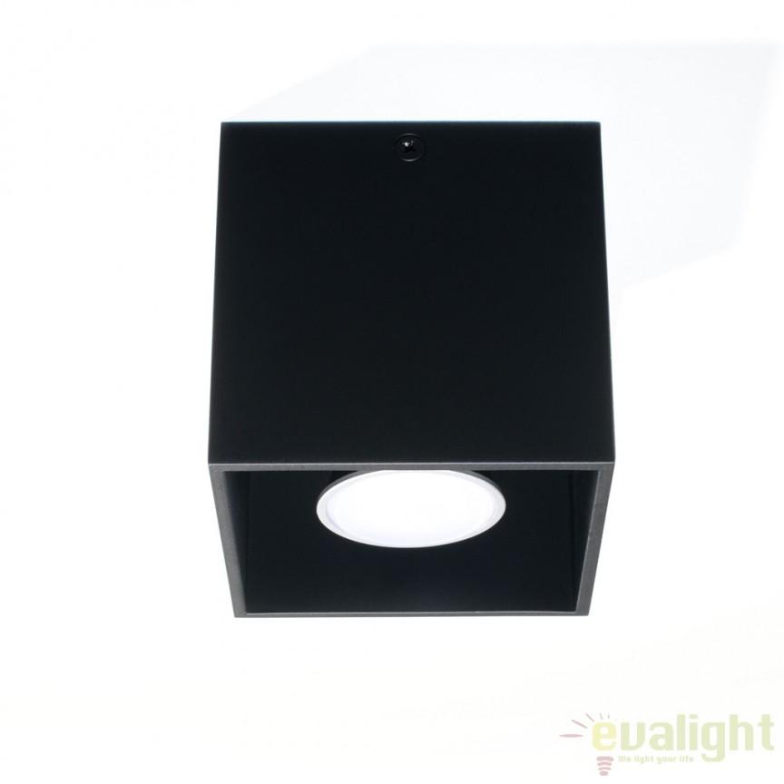 Plafoniera / Spot aplicat design modern QUAD I negru SL.0022, Spoturi incastrate, aplicate - tavan / perete, Corpuri de iluminat, lustre, aplice, veioze, lampadare, plafoniere. Mobilier si decoratiuni, oglinzi, scaune, fotolii. Oferte speciale iluminat interior si exterior. Livram in toata tara.  a