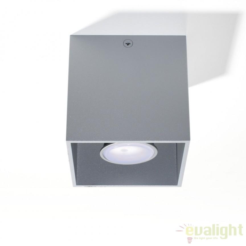 Plafoniera / Spot aplicat design modern QUAD I gri SL.0024, Spoturi incastrate, aplicate - tavan / perete, Corpuri de iluminat, lustre, aplice, veioze, lampadare, plafoniere. Mobilier si decoratiuni, oglinzi, scaune, fotolii. Oferte speciale iluminat interior si exterior. Livram in toata tara.  a