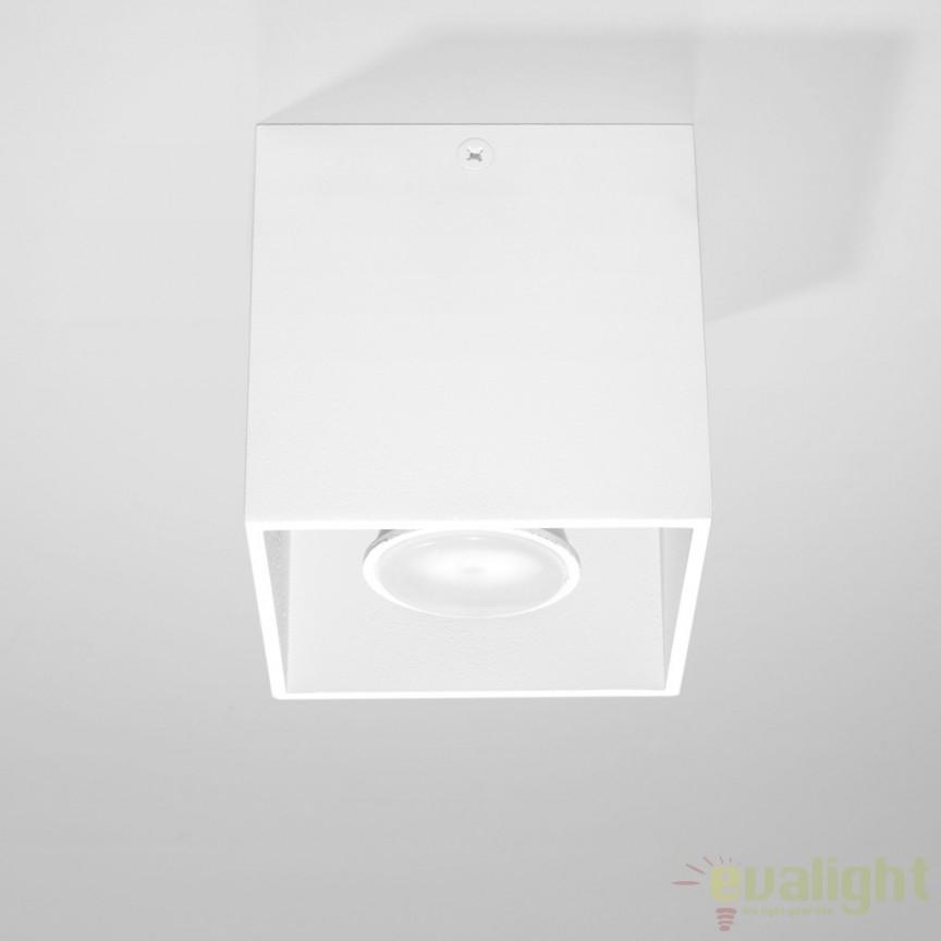 Plafoniera / Spot aplicat design modern QUAD I alb SL.0027, Spoturi incastrate, aplicate - tavan / perete, Corpuri de iluminat, lustre, aplice, veioze, lampadare, plafoniere. Mobilier si decoratiuni, oglinzi, scaune, fotolii. Oferte speciale iluminat interior si exterior. Livram in toata tara.  a