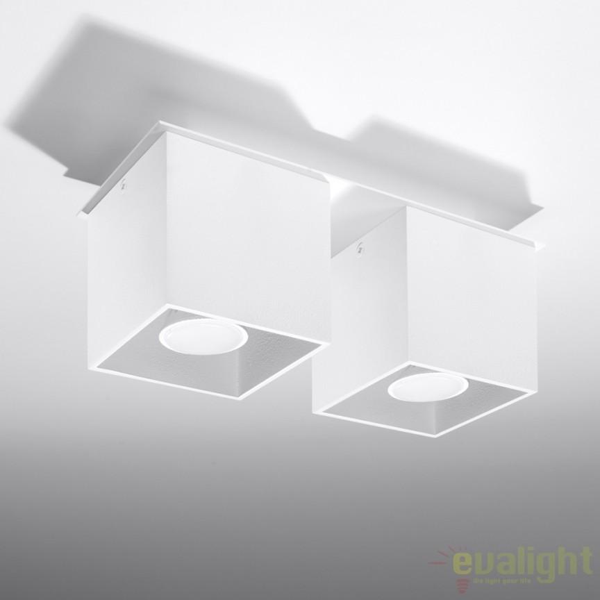 Plafoniera / Spot aplicat design modern QUAD II alb SL.0065, Spoturi incastrate, aplicate - tavan / perete, Corpuri de iluminat, lustre, aplice a