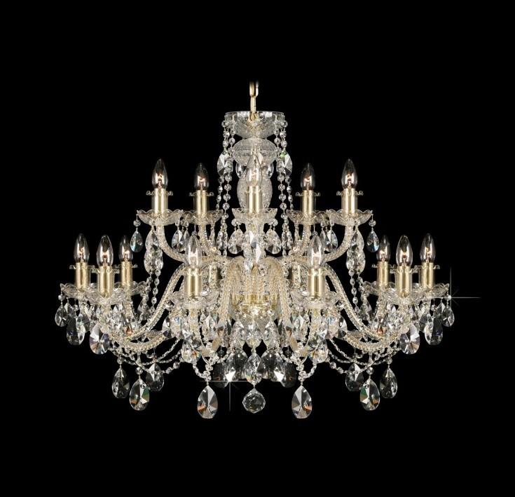 Lustra 15 brate cristal Bohemia L11 009/15/1-A; GOLD, lip., Cele mai vandute Corpuri de iluminat, lustre, aplice, veioze, lampadare, plafoniere. Mobilier si decoratiuni, oglinzi, scaune, fotolii. Oferte speciale iluminat interior si exterior. Livram in toata tara.  a