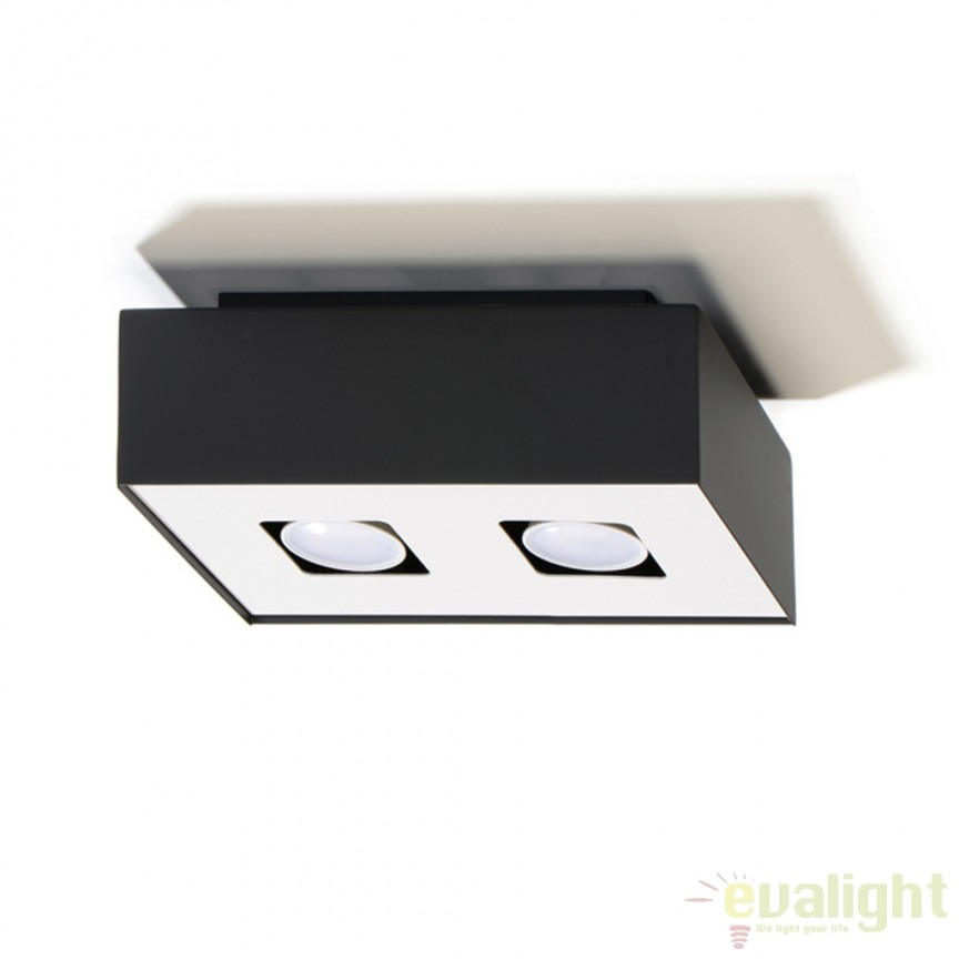 Plafoniera / Spot aplicat design modern Mono II negru SL.0071, Spoturi incastrate, aplicate - tavan / perete, Corpuri de iluminat, lustre, aplice, veioze, lampadare, plafoniere. Mobilier si decoratiuni, oglinzi, scaune, fotolii. Oferte speciale iluminat interior si exterior. Livram in toata tara.  a