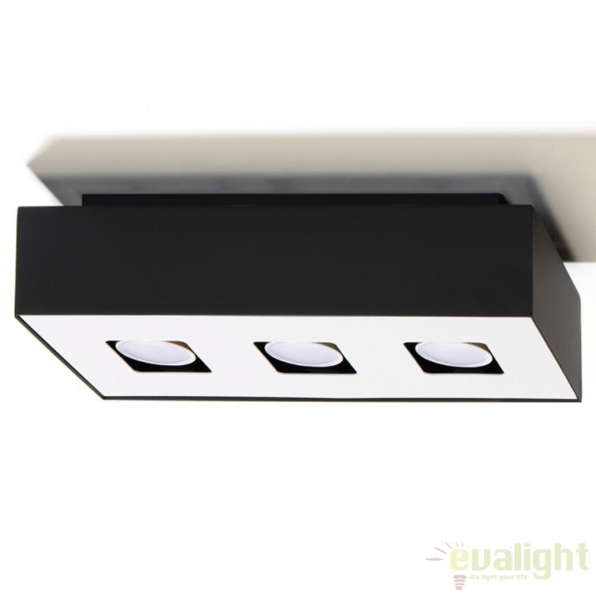 Plafoniera / Spot aplicat design modern Mono III negru SL.0072, Spoturi incastrate, aplicate - tavan / perete, Corpuri de iluminat, lustre, aplice a