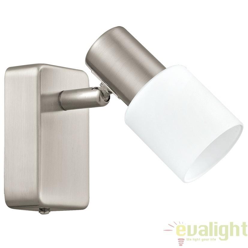 Aplica de perete LED, L-6cm, nickel mat/alb, TABERNO 31389 EL, Aplice de perete LED, Corpuri de iluminat, lustre, aplice, veioze, lampadare, plafoniere. Mobilier si decoratiuni, oglinzi, scaune, fotolii. Oferte speciale iluminat interior si exterior. Livram in toata tara.  a