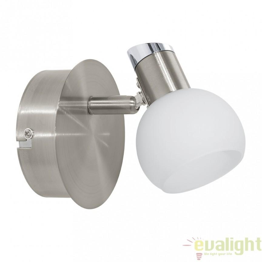 Aplica de perete LED, nickel mat/crom, SESTO 2 94253 EL, Aplice de perete LED, Corpuri de iluminat, lustre, aplice, veioze, lampadare, plafoniere. Mobilier si decoratiuni, oglinzi, scaune, fotolii. Oferte speciale iluminat interior si exterior. Livram in toata tara.  a