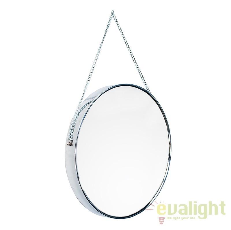 Oglinda decorativa cromata Portrait 45cm A-36693 VC, PROMOTII, Corpuri de iluminat, lustre, aplice, veioze, lampadare, plafoniere. Mobilier si decoratiuni, oglinzi, scaune, fotolii. Oferte speciale iluminat interior si exterior. Livram in toata tara.  a
