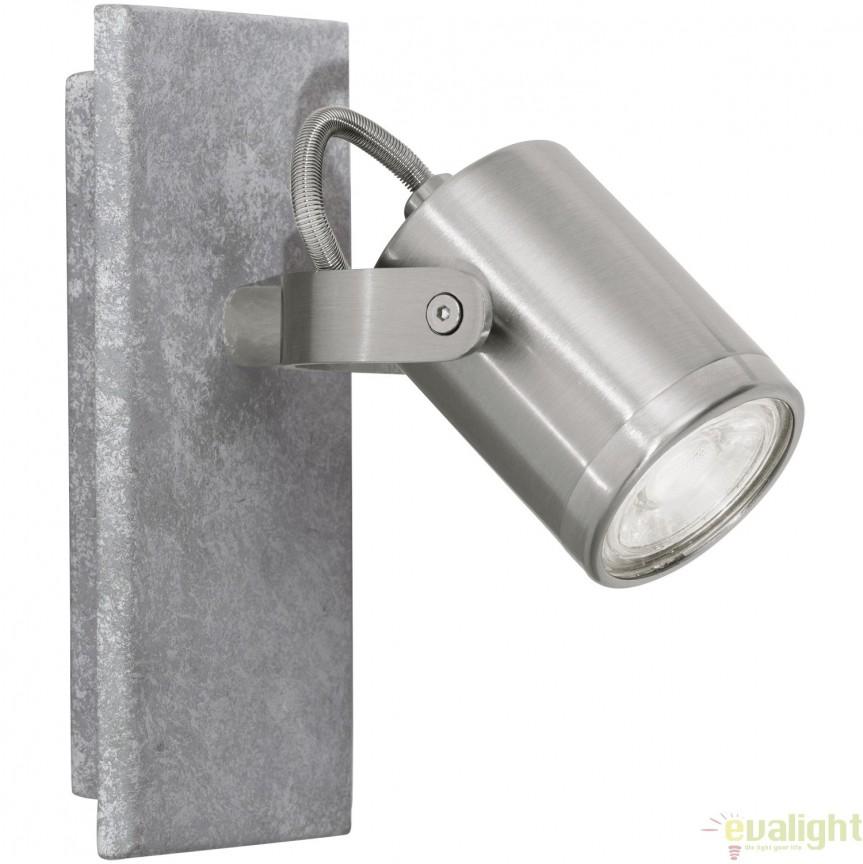 Aplica de perete GU10-LED, gri/nickel mat, PRACETA 95741 EL, Aplice de perete LED, Corpuri de iluminat, lustre, aplice, veioze, lampadare, plafoniere. Mobilier si decoratiuni, oglinzi, scaune, fotolii. Oferte speciale iluminat interior si exterior. Livram in toata tara.  a