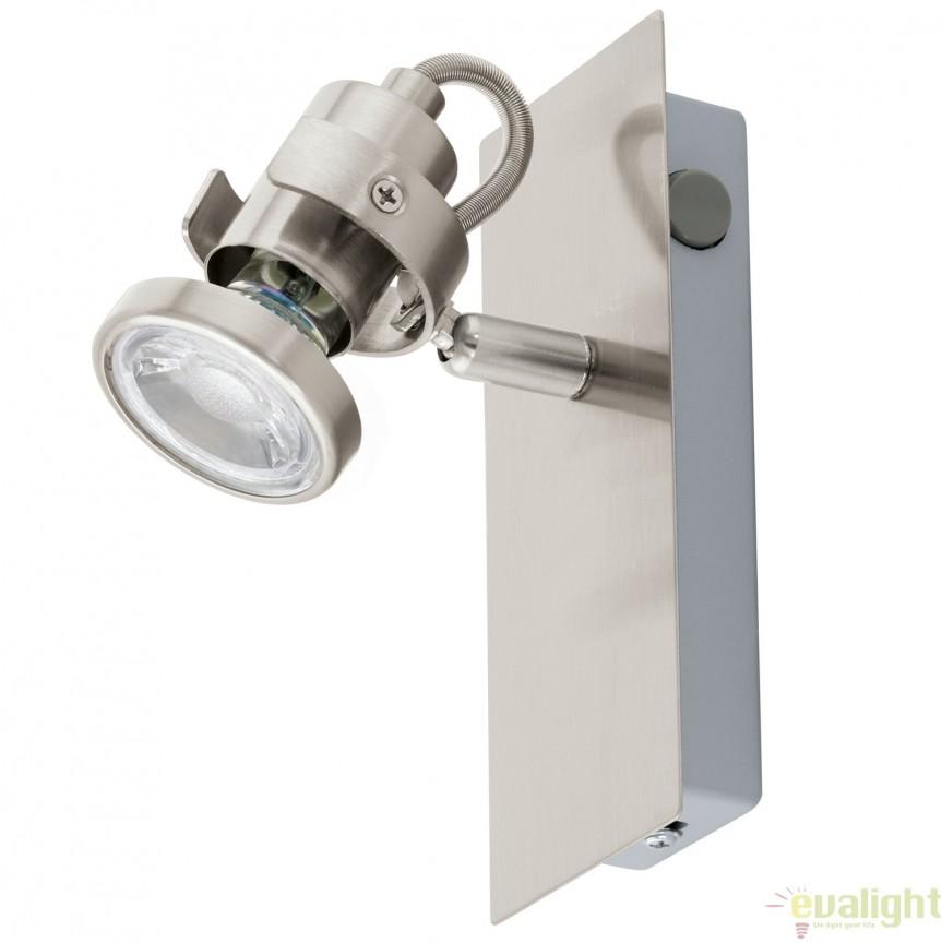 Aplica de perete GU10-LED, nickel, TUKON 3 94144 EL, Magazin,  a