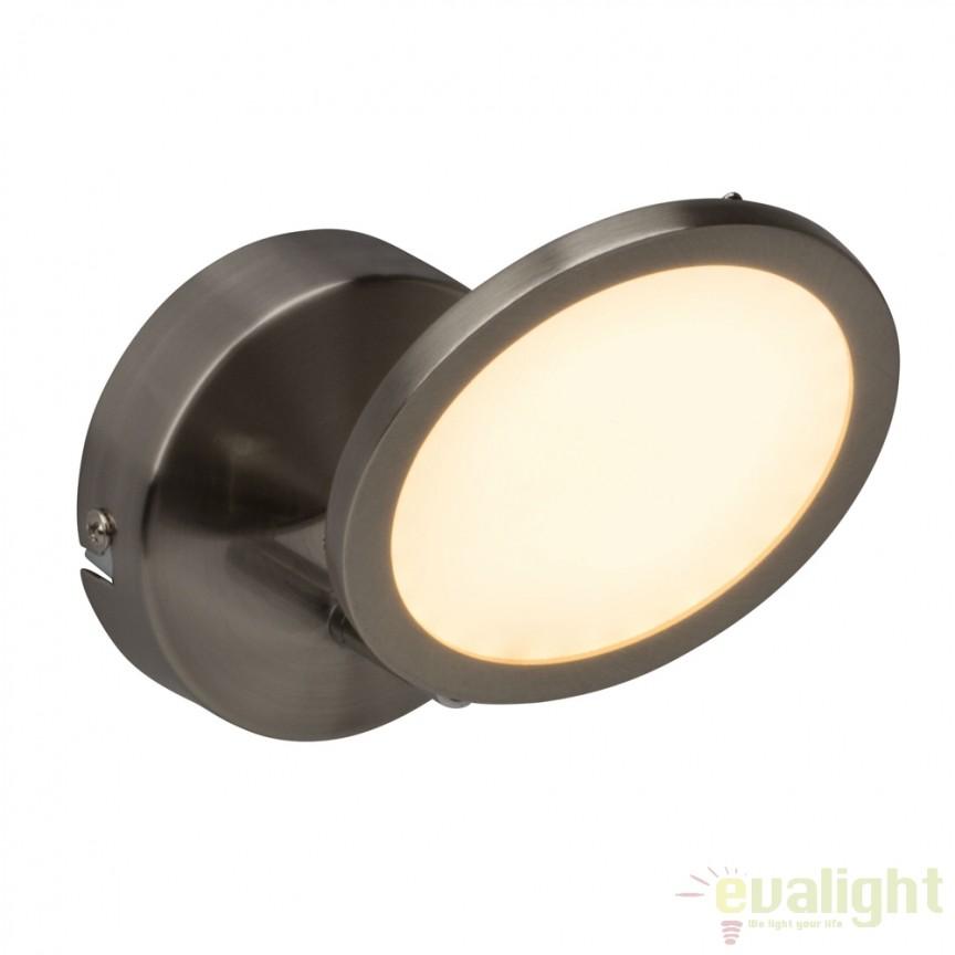 Aplica de perete LED moderna Pluto nickel G30510/13 BL, Aplice de perete LED, Corpuri de iluminat, lustre, aplice, veioze, lampadare, plafoniere. Mobilier si decoratiuni, oglinzi, scaune, fotolii. Oferte speciale iluminat interior si exterior. Livram in toata tara.  a