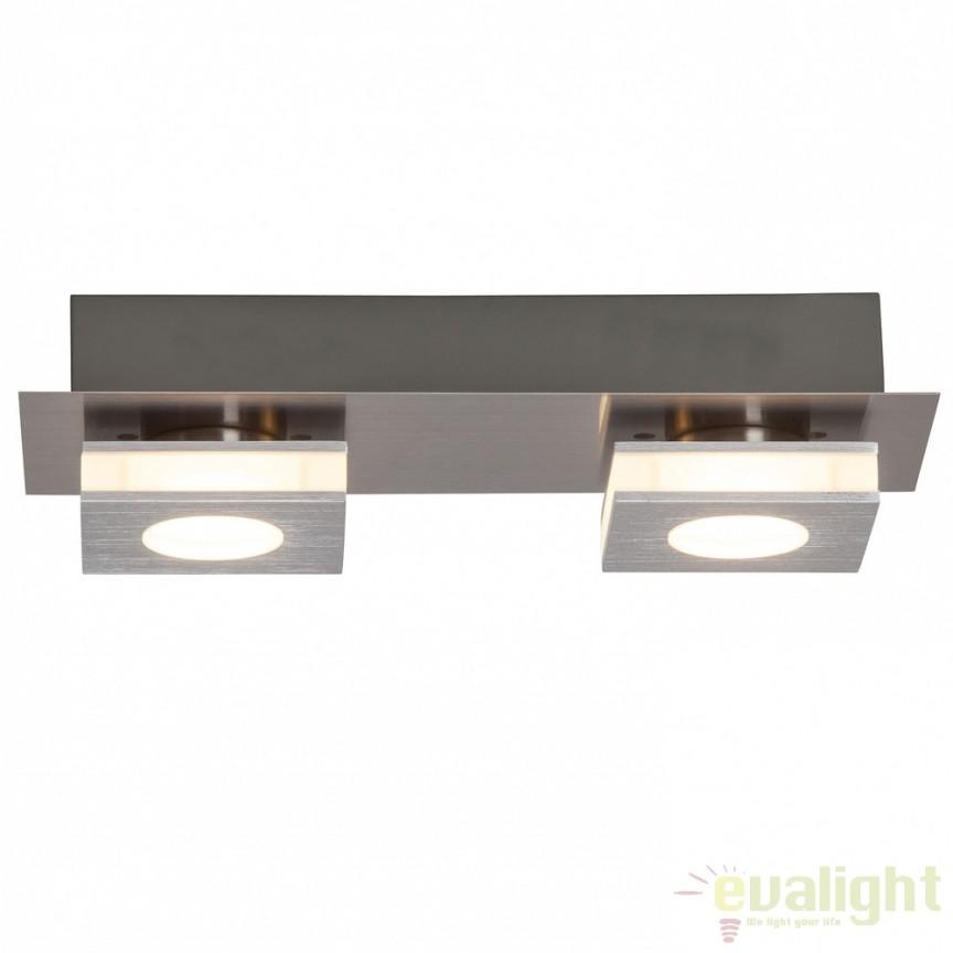 Plafoniera moderna cu 2 spoturi LED Transit G67429/21 BL, ILUMINAT INTERIOR LED , ⭐ modele moderne de lustre LED cu telecomanda potrivite pentru living, bucatarie, birou, dormitor, baie, camera copii (bebe si tineret), casa scarii, hol. ✅Design de lux premium actual Top 2020! ❤️Promotii lampi LED❗ ➽ www.evalight.ro. Alege oferte la sisteme si corpuri de iluminat cu LED dimabile (becuri cu leduri si module LED integrate cu lumina calda, naturala sau rece), ieftine si de lux. Cumpara la comanda sau din stoc, oferte si reduceri speciale cu vanzare rapida din magazine la cele mai bune preturi. Te aşteptăm sa admiri calitatea superioara a produselor noastre live în showroom-urile noastre din Bucuresti si Timisoara❗ a