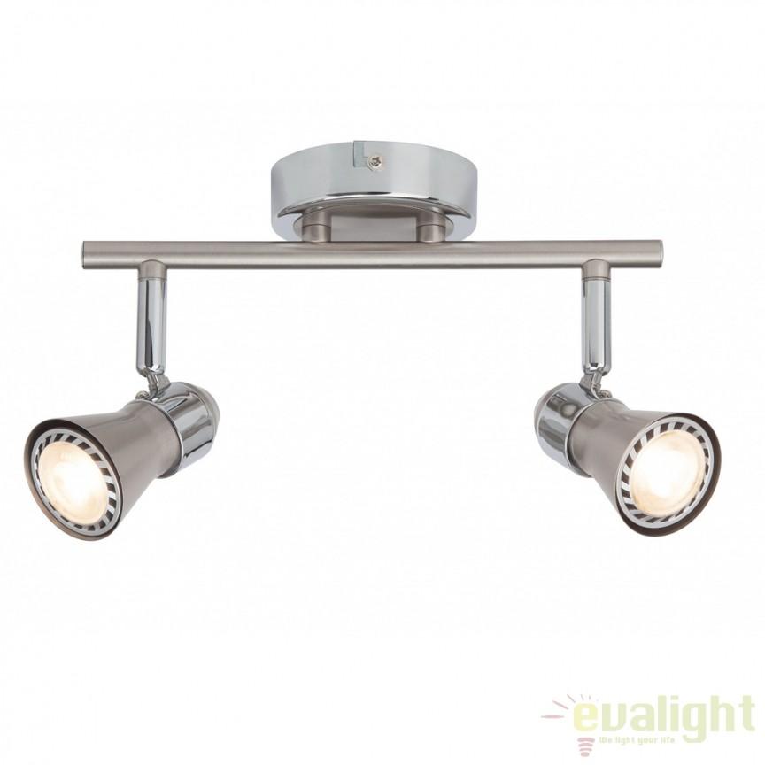Plafoniera moderna cu 2 spoturi LED Sanny G15413/77 BL, ILUMINAT INTERIOR LED , ⭐ modele moderne de lustre LED cu telecomanda potrivite pentru living, bucatarie, birou, dormitor, baie, camera copii (bebe si tineret), casa scarii, hol. ✅Design de lux premium actual Top 2020! ❤️Promotii lampi LED❗ ➽ www.evalight.ro. Alege oferte la sisteme si corpuri de iluminat cu LED dimabile (becuri cu leduri si module LED integrate cu lumina calda, naturala sau rece), ieftine si de lux. Cumpara la comanda sau din stoc, oferte si reduceri speciale cu vanzare rapida din magazine la cele mai bune preturi. Te aşteptăm sa admiri calitatea superioara a produselor noastre live în showroom-urile noastre din Bucuresti si Timisoara❗ a