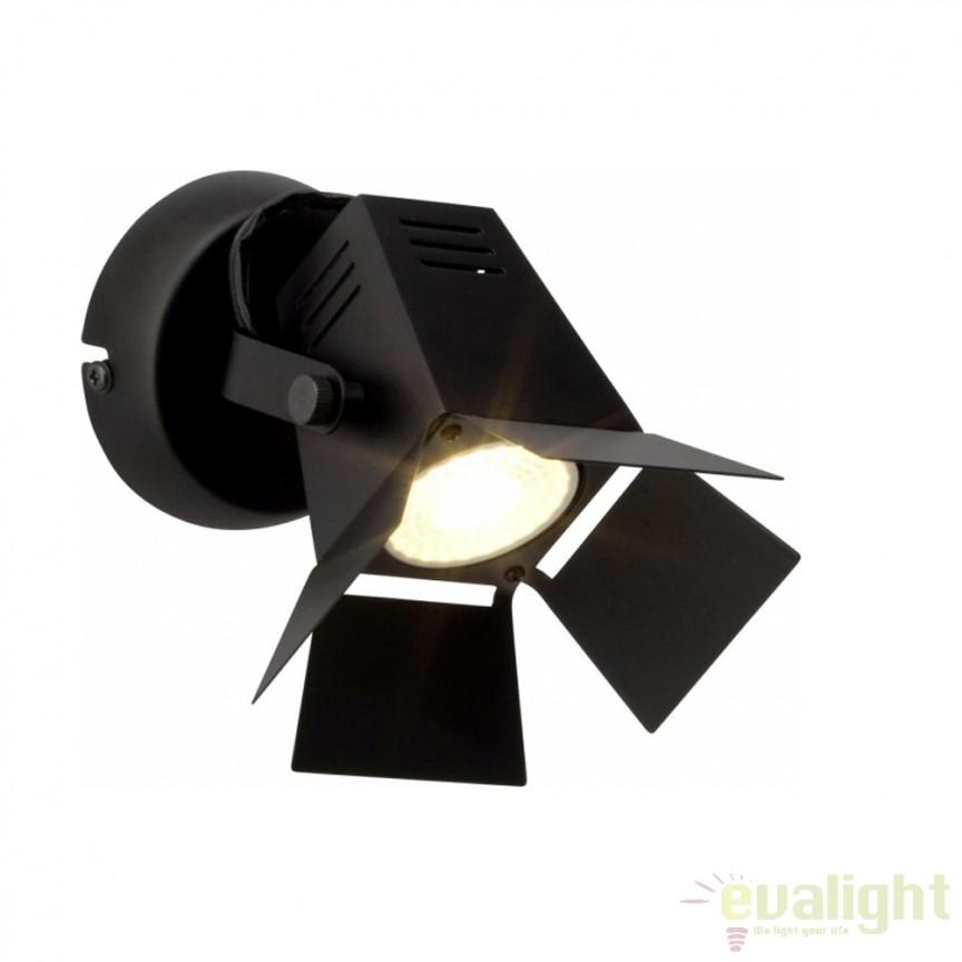 Aplica de perete moderna LED Movie neagra G08910/76 BL, Aplice de perete LED, Corpuri de iluminat, lustre, aplice, veioze, lampadare, plafoniere. Mobilier si decoratiuni, oglinzi, scaune, fotolii. Oferte speciale iluminat interior si exterior. Livram in toata tara.  a