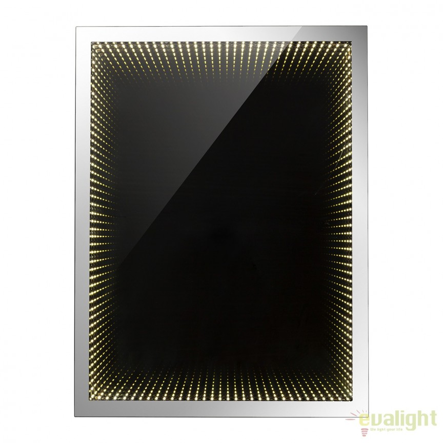 Oglinda cu iluminat LED efect tunel infinit si protectie IP44, 60x80cm Mara 84017 GL, Oglinzi pentru baie, Corpuri de iluminat, lustre, aplice a