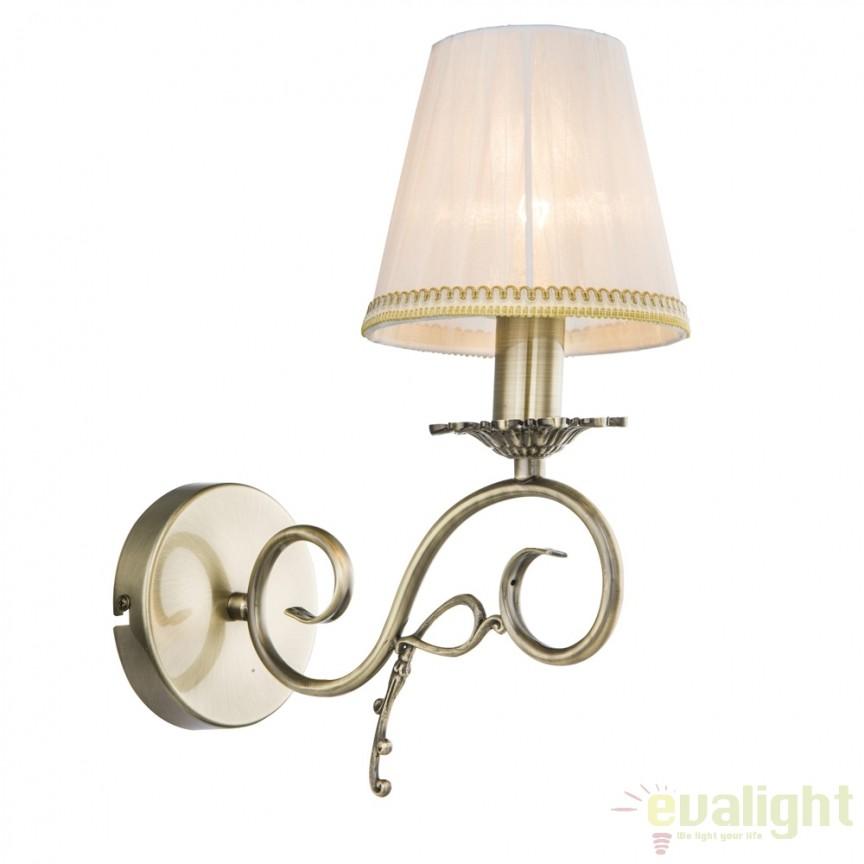 Aplica de perete eleganta design clasic GENOVEVA III 69011W GL, Promotii si Reduceri⭐ Oferte ✅Corpuri de iluminat ✅Lustre ✅Mobila ✅Decoratiuni de interior si exterior.⭕Pret redus online➜Lichidari de stoc❗ Magazin ➽ www.evalight.ro. a