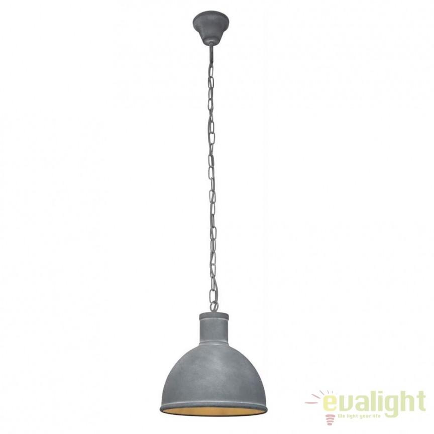 Pendul Industria Style diametru 30cm Bente 93617/70 BL, NOU ! Lustre VINTAGE, RETRO, INDUSTRIA Style,  a