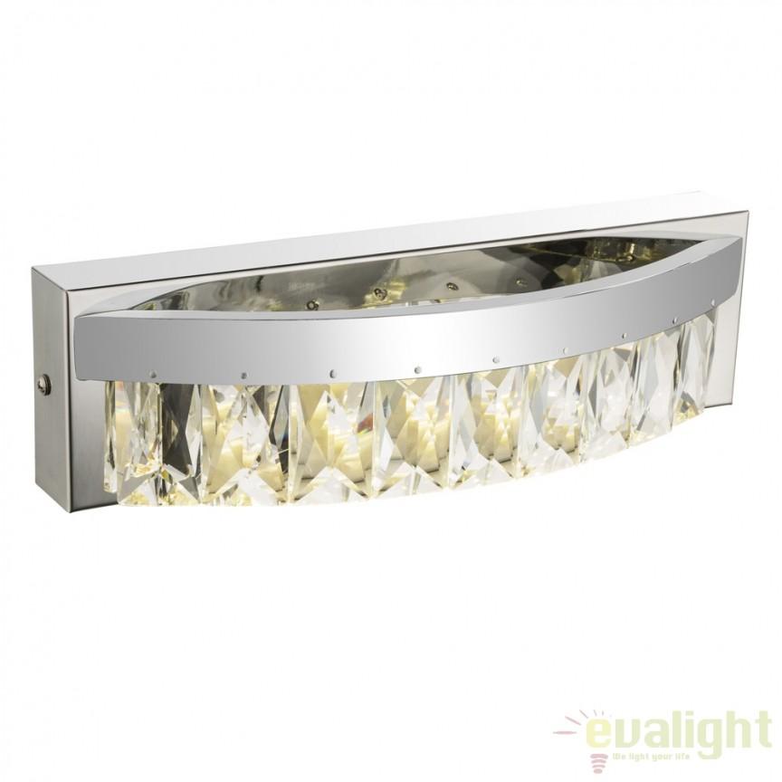 Aplica de perete LED moderna cu cristal K5 Jason 49234-8W GL, Aplice de perete LED, Corpuri de iluminat, lustre, aplice, veioze, lampadare, plafoniere. Mobilier si decoratiuni, oglinzi, scaune, fotolii. Oferte speciale iluminat interior si exterior. Livram in toata tara.  a