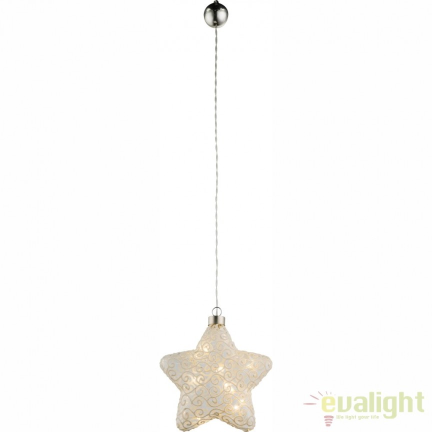 Glob de  Craciun decorativ din sticla cu iluminat LED Weihnachtseng 23234 GL, ILUMINAT FESTIV, Corpuri de iluminat, lustre, aplice, veioze, lampadare, plafoniere. Mobilier si decoratiuni, oglinzi, scaune, fotolii. Oferte speciale iluminat interior si exterior. Livram in toata tara.  a