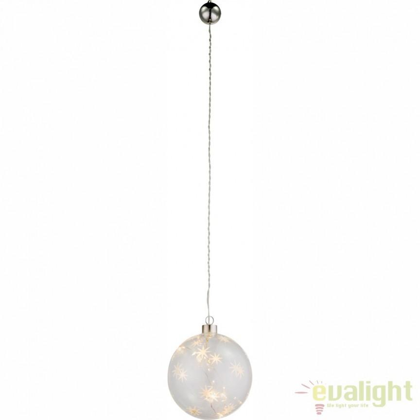Glob de  Craciun decorativ din sticla cu iluminat LED Weihnachtseng 23235 GL, ILUMINAT FESTIV, Corpuri de iluminat, lustre, aplice a