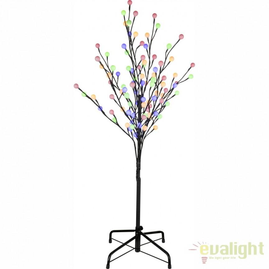 Pom decorativ de exterior cu iluminat LED colorat, IP44, VIRIDIS 39116 GL, ILUMINAT FESTIV, Corpuri de iluminat, lustre, aplice, veioze, lampadare, plafoniere. Mobilier si decoratiuni, oglinzi, scaune, fotolii. Oferte speciale iluminat interior si exterior. Livram in toata tara.  a