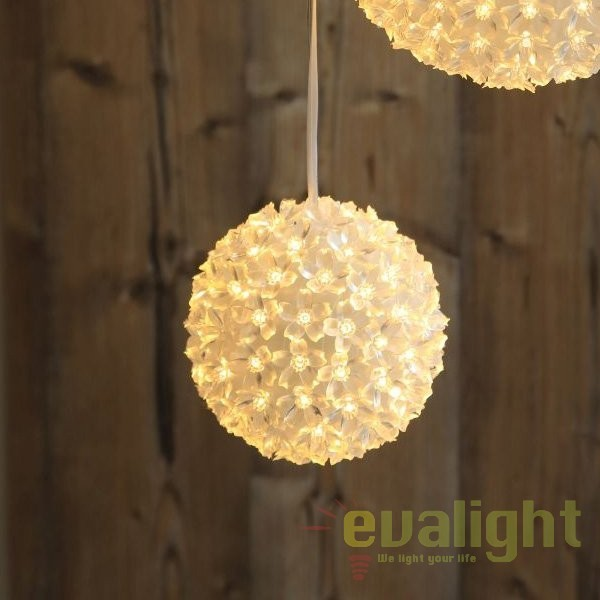 Glob decorativ cu iluminat LED pentru exterior IP44 Rose I 29938-15 GL, ILUMINAT FESTIV, Corpuri de iluminat, lustre, aplice, veioze, lampadare, plafoniere. Mobilier si decoratiuni, oglinzi, scaune, fotolii. Oferte speciale iluminat interior si exterior. Livram in toata tara.  a