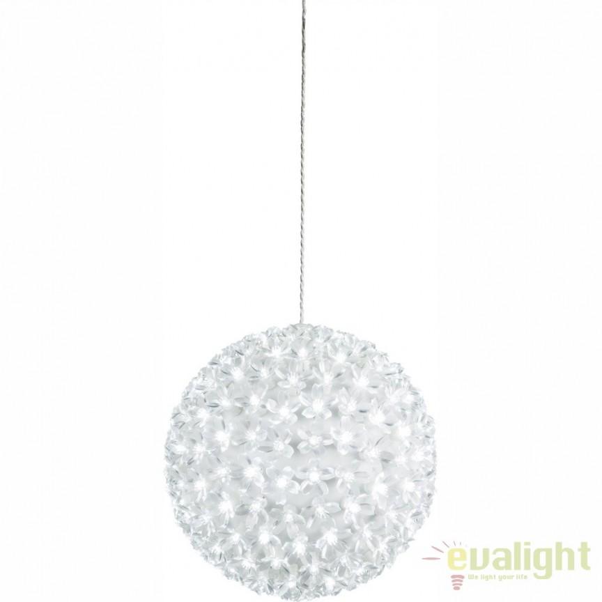 Glob decorativ cu iluminat LED pentru exterior IP44 Rose I 29938-23 GL, ILUMINAT FESTIV, Corpuri de iluminat, lustre, aplice, veioze, lampadare, plafoniere. Mobilier si decoratiuni, oglinzi, scaune, fotolii. Oferte speciale iluminat interior si exterior. Livram in toata tara.  a