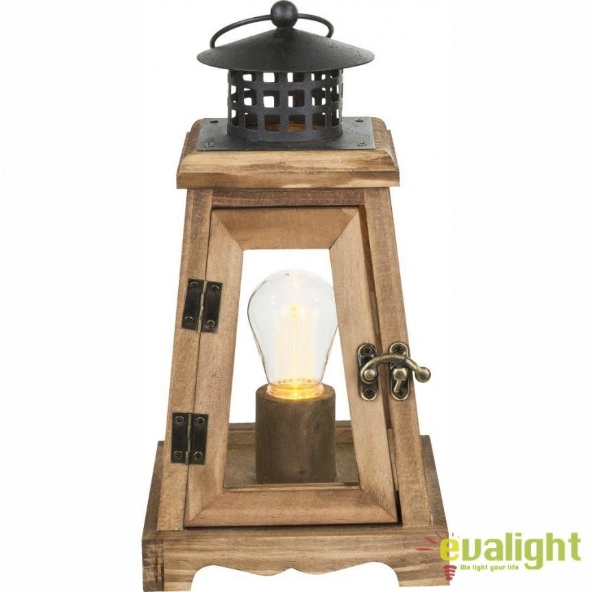 Felinar decorativ cu iluminat LED si baterii FANAL 28188 GL, ILUMINAT FESTIV, Corpuri de iluminat, lustre, aplice, veioze, lampadare, plafoniere. Mobilier si decoratiuni, oglinzi, scaune, fotolii. Oferte speciale iluminat interior si exterior. Livram in toata tara.  a