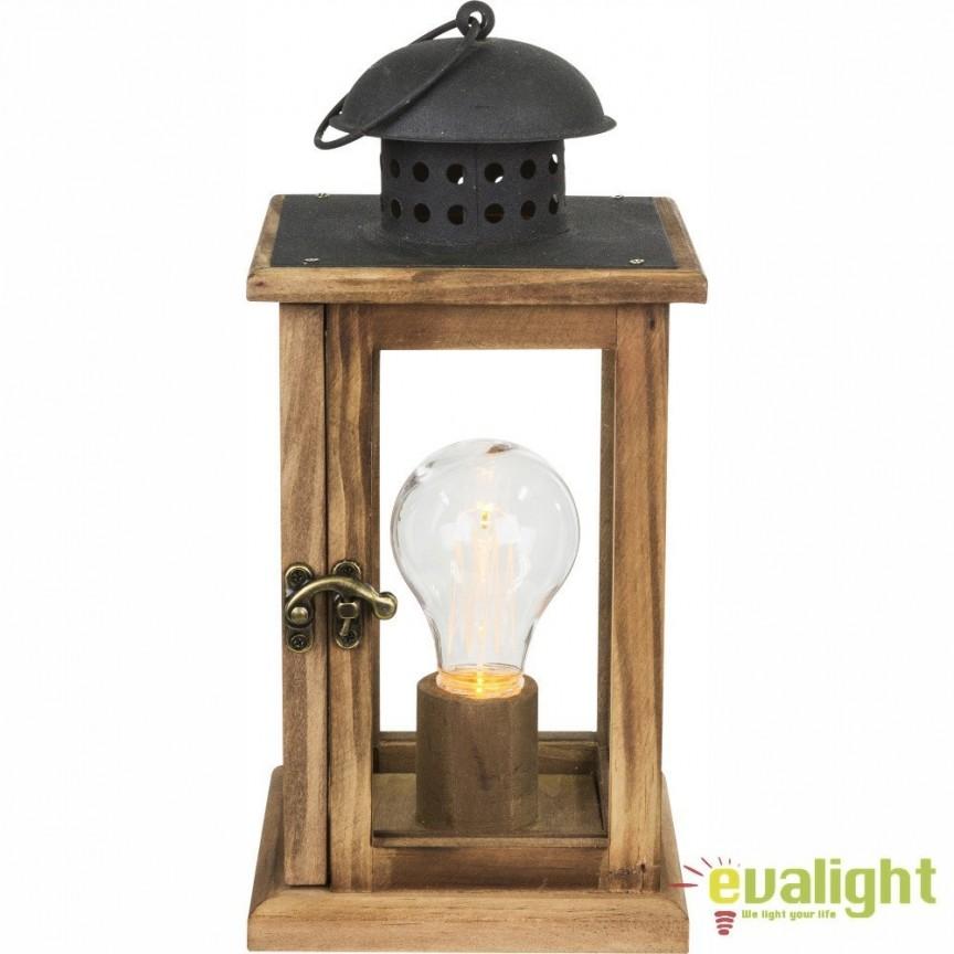Felinar decorativ cu iluminat LED si baterii FANAL 28189 GL, ILUMINAT FESTIV, Corpuri de iluminat, lustre, aplice, veioze, lampadare, plafoniere. Mobilier si decoratiuni, oglinzi, scaune, fotolii. Oferte speciale iluminat interior si exterior. Livram in toata tara.  a