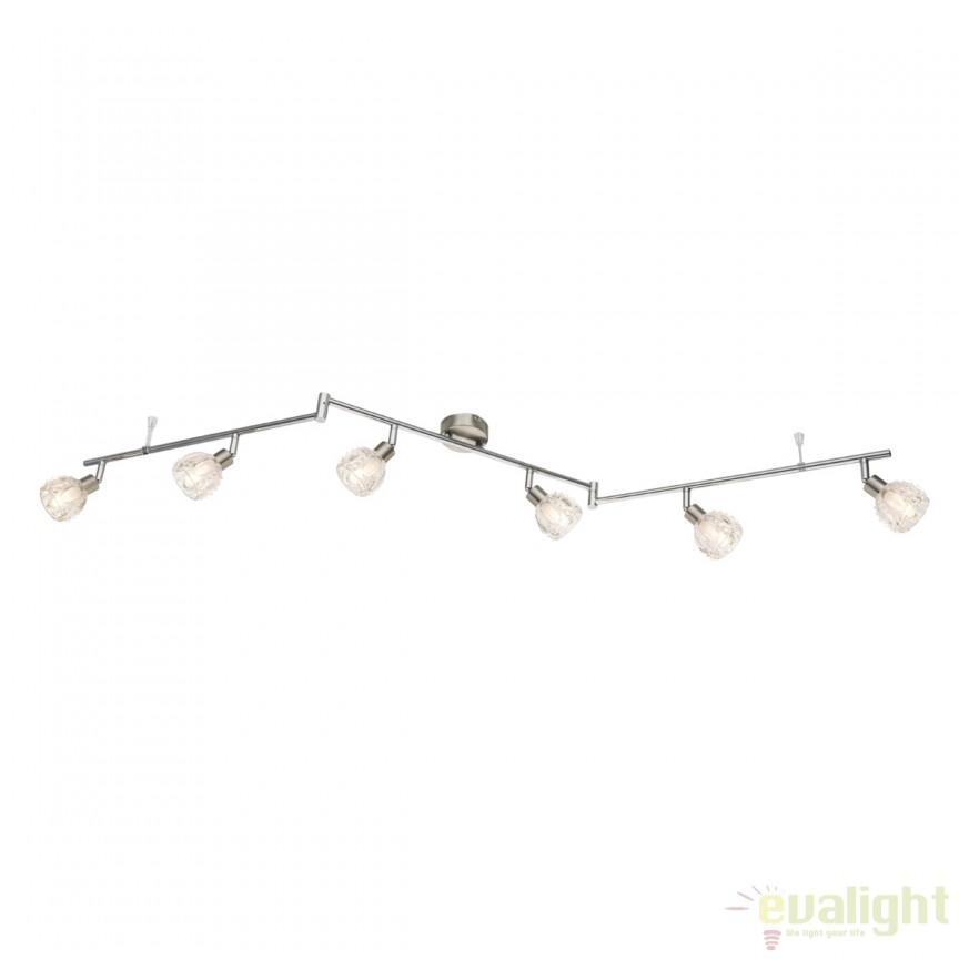 Lustra LED aplicata cu 6 spoturi reglabile ALOHA 56180-6 GL, Spoturi - iluminat - cu 5 si 6 spoturi, Corpuri de iluminat, lustre, aplice, veioze, lampadare, plafoniere. Mobilier si decoratiuni, oglinzi, scaune, fotolii. Oferte speciale iluminat interior si exterior. Livram in toata tara.  a