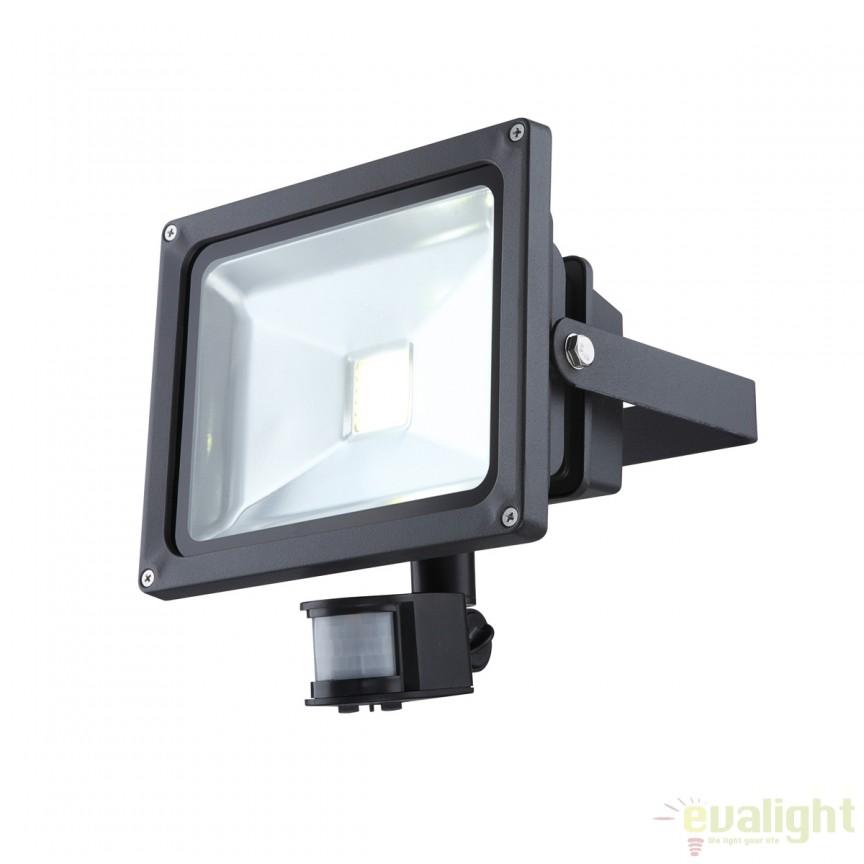 Proiector de exterior cu iluminat LED si senzor de miscare IP44, Projecteur 34116S GL, Iluminat cu senzor de miscare, Corpuri de iluminat, lustre, aplice, veioze, lampadare, plafoniere. Mobilier si decoratiuni, oglinzi, scaune, fotolii. Oferte speciale iluminat interior si exterior. Livram in toata tara.  a