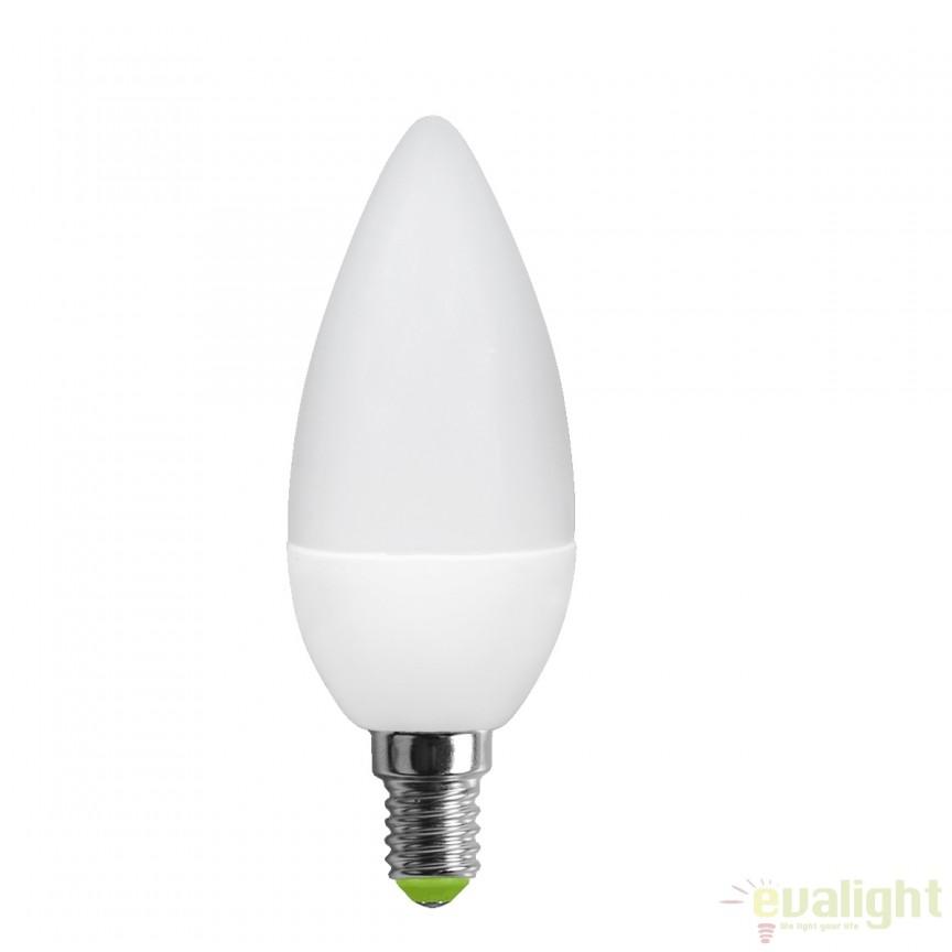 Bec LED E14 candle 3 Watt 250lm 3000K 10604 GL , Magazin, Corpuri de iluminat, lustre, aplice, veioze, lampadare, plafoniere. Mobilier si decoratiuni, oglinzi, scaune, fotolii. Oferte speciale iluminat interior si exterior. Livram in toata tara.  a