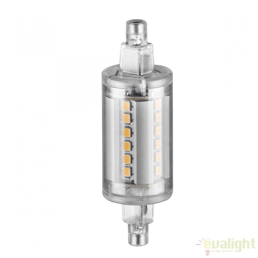 Bec LED R7s clear 4,5 Watt 450lm 3000K 10133 GL , Becuri G9, G4, R7s, Corpuri de iluminat, lustre, aplice, veioze, lampadare, plafoniere. Mobilier si decoratiuni, oglinzi, scaune, fotolii. Oferte speciale iluminat interior si exterior. Livram in toata tara.  a
