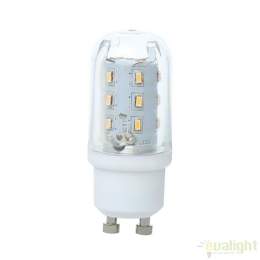 Bec LED GU10 clear 4 Watt 400lm 3000K 10717 GL , Becuri GU10, GU4, GU3,5, Corpuri de iluminat, lustre, aplice, veioze, lampadare, plafoniere. Mobilier si decoratiuni, oglinzi, scaune, fotolii. Oferte speciale iluminat interior si exterior. Livram in toata tara.  a