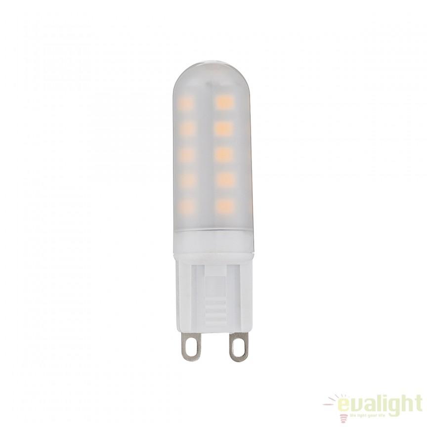 Bec LED G9 satin 3,5 Watt 300lm 3000K 10677 GL , Becuri G9, G4, R7s, Corpuri de iluminat, lustre, aplice, veioze, lampadare, plafoniere. Mobilier si decoratiuni, oglinzi, scaune, fotolii. Oferte speciale iluminat interior si exterior. Livram in toata tara.  a