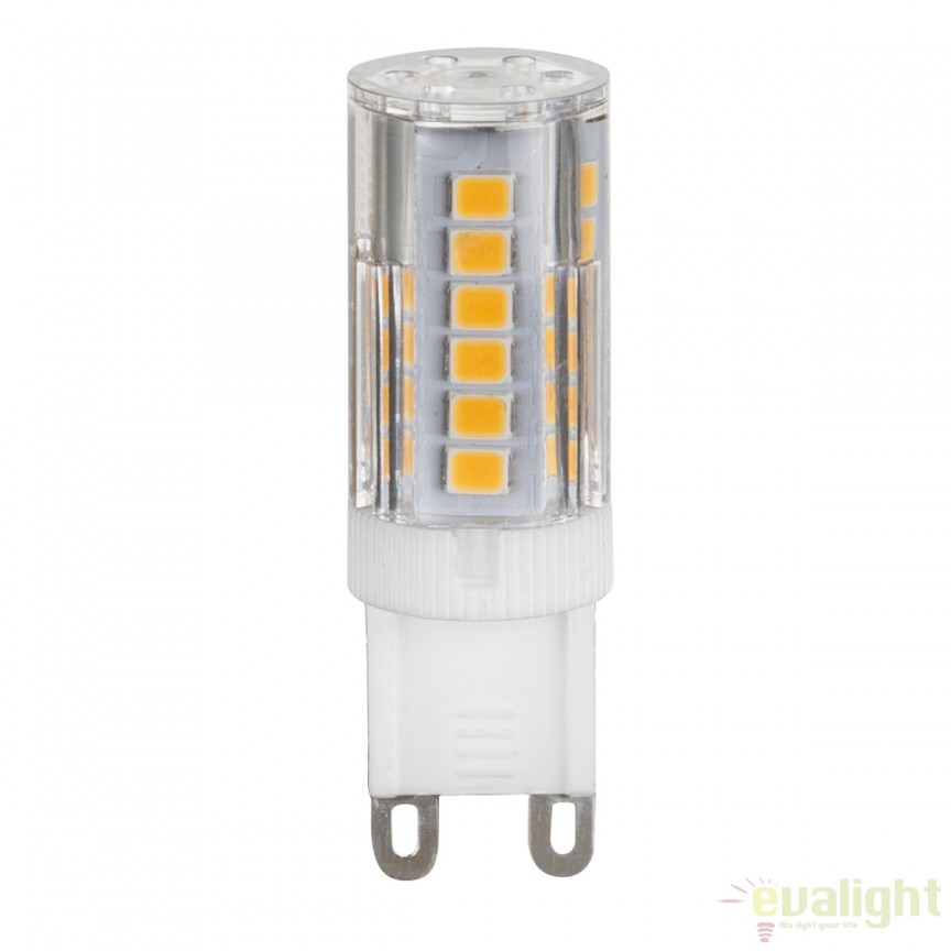 Bec LED G9 clar dimabil 3 Watt 280lm 3000K 10483 GL , Becuri G9, G4, R7s, Corpuri de iluminat, lustre, aplice, veioze, lampadare, plafoniere. Mobilier si decoratiuni, oglinzi, scaune, fotolii. Oferte speciale iluminat interior si exterior. Livram in toata tara.  a