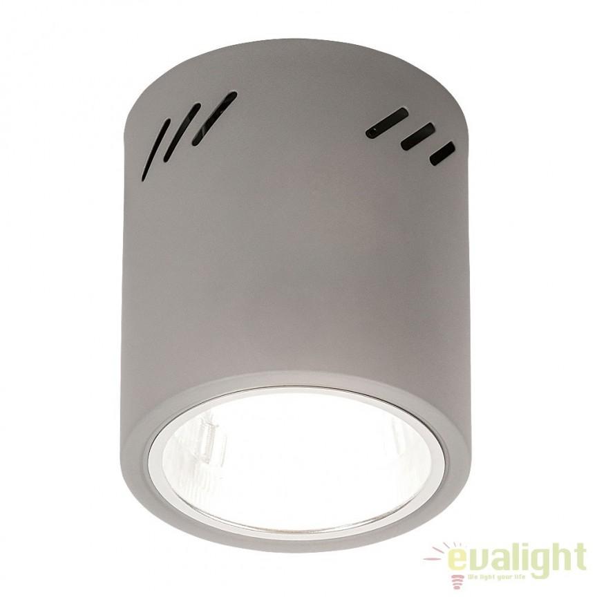 Spot aplicat gri diametrul 13,3 cm Donald 2485 RX, Spoturi incastrate, aplicate - tavan / perete, Corpuri de iluminat, lustre, aplice, veioze, lampadare, plafoniere. Mobilier si decoratiuni, oglinzi, scaune, fotolii. Oferte speciale iluminat interior si exterior. Livram in toata tara.  a
