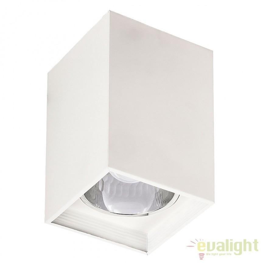 Spot aplicat modern alb mat dim.13,5 x 13,5 cm Maddox 2486 RX, Spoturi incastrate, aplicate - tavan / perete, Corpuri de iluminat, lustre, aplice, veioze, lampadare, plafoniere. Mobilier si decoratiuni, oglinzi, scaune, fotolii. Oferte speciale iluminat interior si exterior. Livram in toata tara.  a