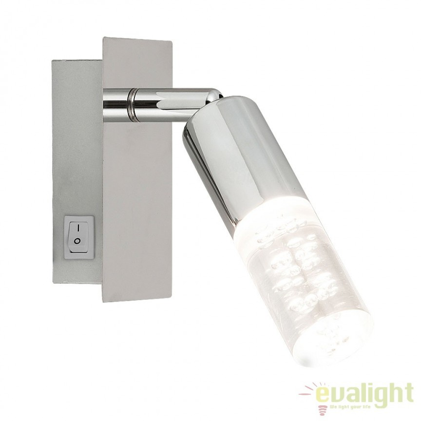 Aplica de perete design modern finisaj crom LED Angela 6675 RX, Aplice de perete LED, Corpuri de iluminat, lustre, aplice, veioze, lampadare, plafoniere. Mobilier si decoratiuni, oglinzi, scaune, fotolii. Oferte speciale iluminat interior si exterior. Livram in toata tara.  a