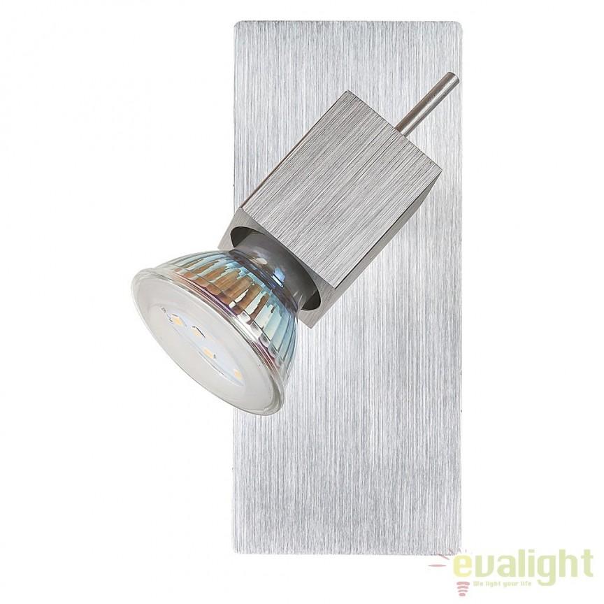 Aplica de perete design modern aluminiu slefuit LED Agata 6757 RX, Aplice de perete LED, Corpuri de iluminat, lustre, aplice, veioze, lampadare, plafoniere. Mobilier si decoratiuni, oglinzi, scaune, fotolii. Oferte speciale iluminat interior si exterior. Livram in toata tara.  a