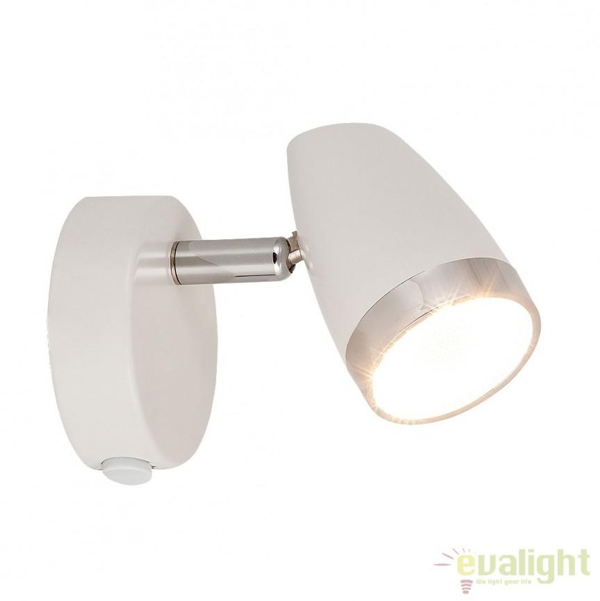 Aplica de perete design modern alb LED Karen 6666 RX, Aplice de perete LED, Corpuri de iluminat, lustre, aplice, veioze, lampadare, plafoniere. Mobilier si decoratiuni, oglinzi, scaune, fotolii. Oferte speciale iluminat interior si exterior. Livram in toata tara.  a