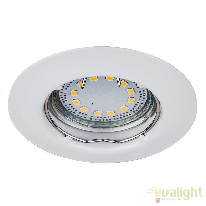 Set de 3 spoturi GU10 LED incastrabile cu protectie IP44, alb Lite 1046 RX, Spoturi incastrate, aplicate - tavan / perete, Corpuri de iluminat, lustre, aplice a