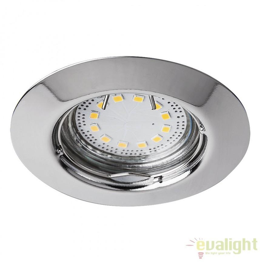 Set de 3 spoturi GU10 LED incastrabile cu protectie IP44, crom Lite 1047 RX, Spoturi incastrate, aplicate - tavan / perete, Corpuri de iluminat, lustre, aplice a