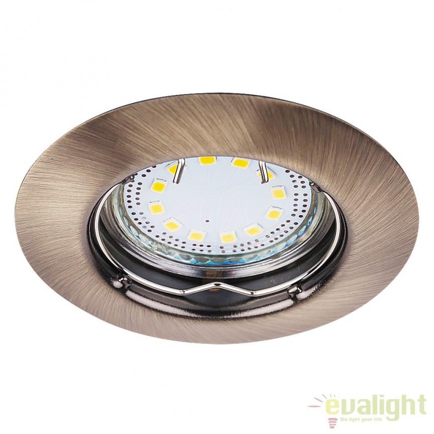 Set de 3 spoturi GU10 LED incastrabile cu protectie IP44, bronz Lite 1048 RX, Spoturi LED incastrate, aplicate, Corpuri de iluminat, lustre, aplice a