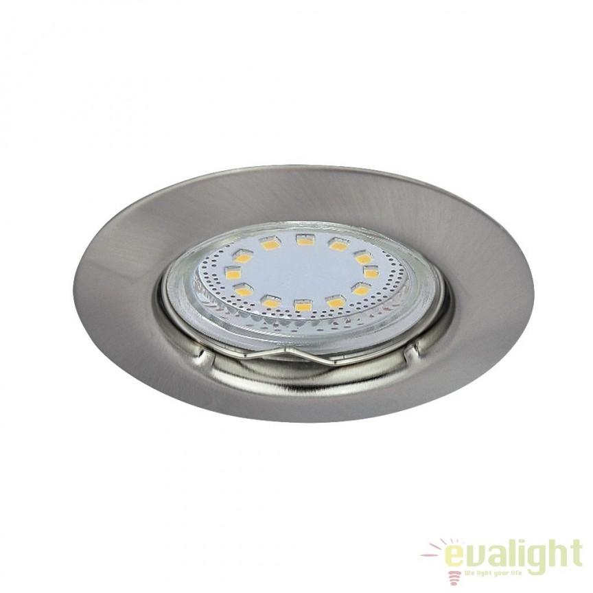 Set de 3 spoturi GU10 LED incastrabile cu protectie IP44, crom satinat Lite 1163 RX, Spoturi LED incastrate, aplicate, Corpuri de iluminat, lustre, aplice a