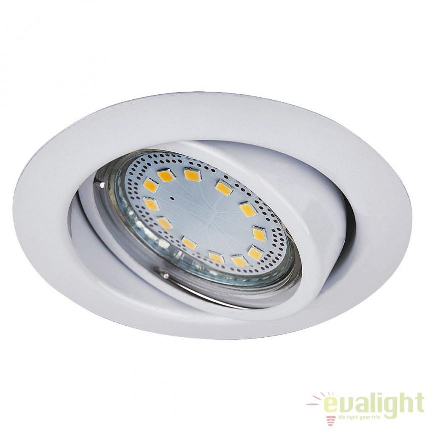 Set de 3 spoturi GU10 LED incastrabile, directionabile cu protectie IP40, alb Lite 1049 RX, Spoturi LED incastrate, aplicate, Corpuri de iluminat, lustre, aplice, veioze, lampadare, plafoniere. Mobilier si decoratiuni, oglinzi, scaune, fotolii. Oferte speciale iluminat interior si exterior. Livram in toata tara.  a
