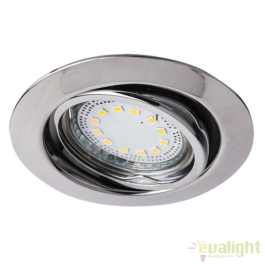 Set de 3 spoturi GU10 LED incastrabile, directionabile cu protectie IP40, crom Lite 1050 RX, Spoturi LED incastrate, aplicate, Corpuri de iluminat, lustre, aplice a